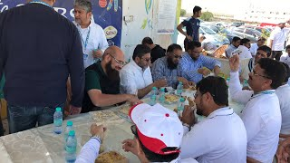 Lunch break kpl3 muzaffar mulla on ground