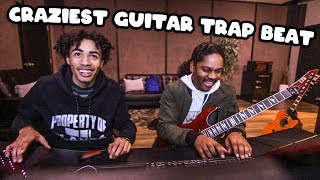 We Made The CRAZIEST Trap Beat With LIVE GUITARS!!! [Fl Studio Wheezy Beat From Scratch]