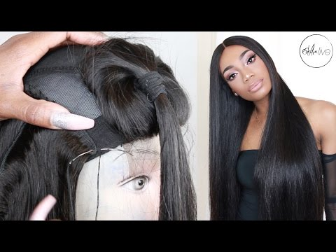 HAIR   EASY TUTORIAL MAKE A WIG START TO FINISH & POST INSTALL REVIEW • ALIGRACE BRAZILIAN STRAIGHT