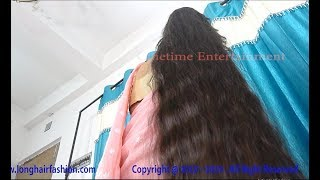 Lovely Hair Touch & Feel Sejal The Most Beautiful Silky & Shiny Long Hair Rapunzel of India