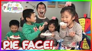 Despicable Me Minion Pie Face Challenge! Whipped Cream - Family Fun Game🎈 Playtime w. Aiden & Claire