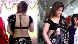 Neetu Chandra In Saree At Designer Sandhya Singh