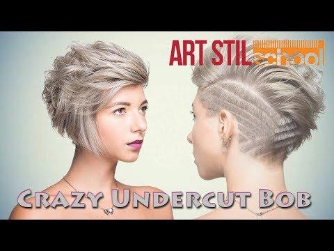 Crazy Undercut Bob