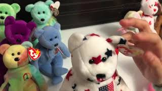 Here's a look at my small Beanie Baby Collection.