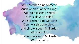 Parallel feat. Cassandra Steen - Eine Sprache (Lyrics)