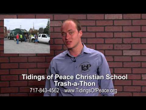 Tidings of Peace Christian School Trash-a-Thon Promo