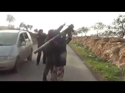 Kuasa Allah SWT - Jet tentera basyar di bedil dengan hanya sebutir roket Mujahidin