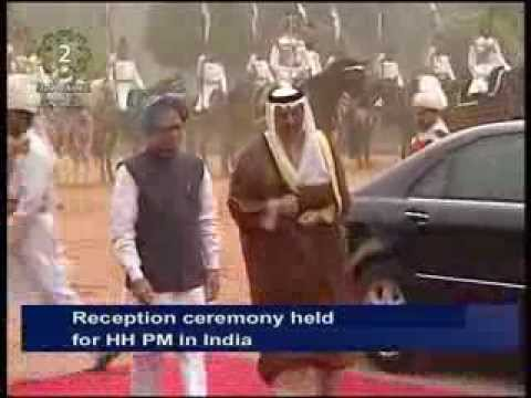 His Highness the Prime MInister meets Indian counterpart Manmohan Singh during his visit to India