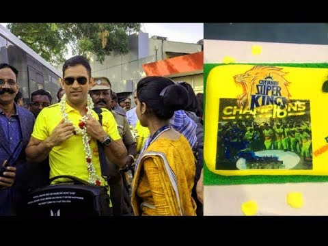 Watch Chennai Super Kings Grand Welcome In Chennai - Ms Dhoni Massive Entry IPL 2018 Champions