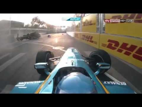 Nick Heidfeld Huge Crash @ 2014 Formula E Beijing