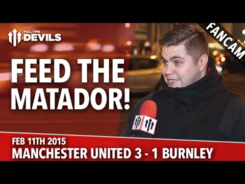 Radamel Falcao: Feed the Matador! | Manchester United 3 Burnley 1 | FANCAM