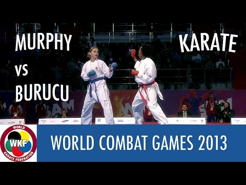 Karate Women's Kumite -68kg. MURPHY vs BURUCU. World Combat Games 2013