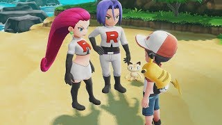 Pokemon Let's Go Pikachu - All Team Rocket Scenes (Jessie And James)