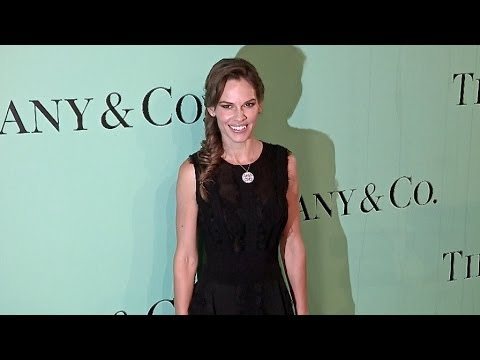 Hilary Swank on the Red Carpet of the Tiffany & co Flagship opening in Paris