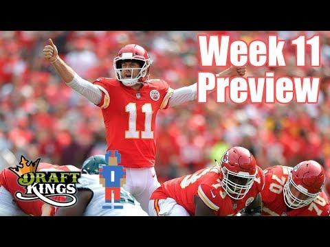 NFL Week 11 Preview & Picks - DraftKings