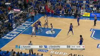 Kentucky vs Kansas Basketball Highlights 1-28-17