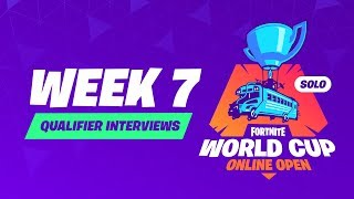 Fortnite World Cup - Week 7 Qualifier Interviews