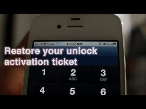 How to restore your iPhone unlock activation ticket