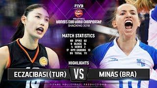 Eczacibasi VitrA (TUR) vs. Minas (BRA) - Highlights | FIVB Women's Club World Championships 2018