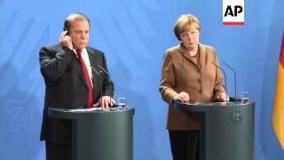 Chancellor Merkel meets Pakistani PM Nawaz Sharif