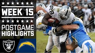 Raiders vs. Chargers | NFL Week 15 Game Highlights