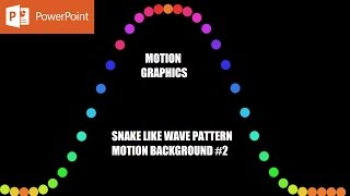 Snake Like Wave Pattern 2 | Motion Backgrounds in PowerPoint 2016 Tutorial