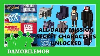 ★ DISNEY CROSSY ROAD ALL DAILY MISSIONS SECRET CHARACTERS UNLOCKED (ALICE THROUGH THE LONG GL)