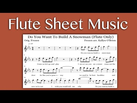 Do You Want To Build A Snowman - Frozen (Flute Sheet Music)