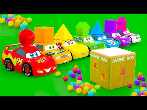 Toy box surprise McQueen Car and friends. Car stories for Kids learning. Cartoon for Kids with Cars
