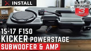 2015-2016 F-150 Kicker VSS PowerStage Powered Subwoofer and Amp Kit Install
