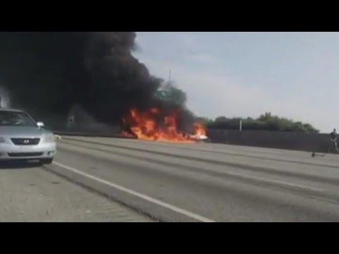 Fatal Highway Plane Crash in Atlanta
