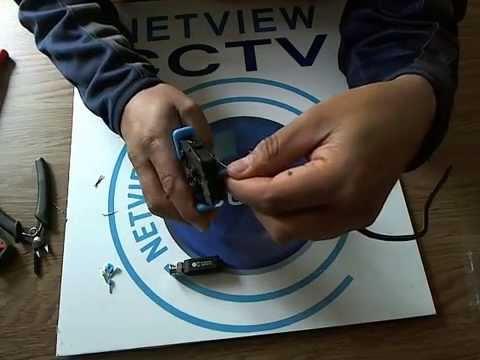 Demo of Netview HD Passive Video Balun CVI TVI & AHD up to 450m 720P & 250m 1080P Video