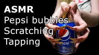 ASMR pepsi bubbles long nails