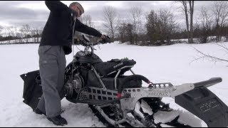 How to start your Ski-doo if the pull chord breaks.