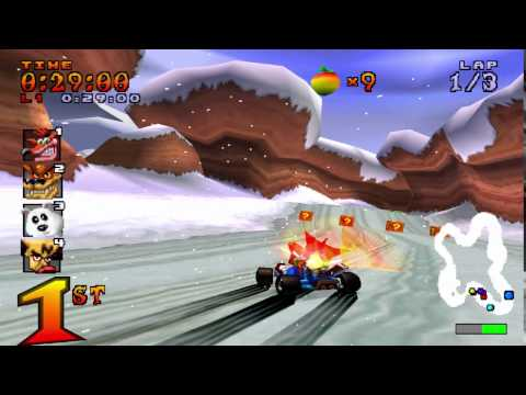 Crash Team Racing (NTSC) 101% Walkthrough - Part 12 - Blizzard Bluff [Trophy]