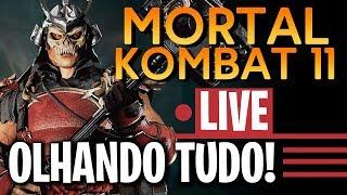 🔴 MORTAL KOMBAT 11 - JOGANDO MODO HISTÓRIA COMPLETO AO VIVO (DUBLADO) - SORTEIO NA DESCRIÇÃO!!