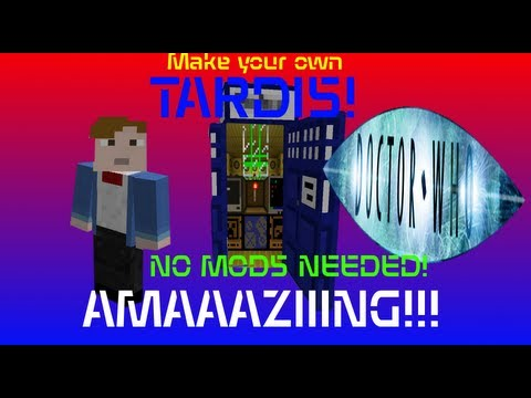 [NO MODS] Make your own T.A.R.D.I.S. in Minecraft!