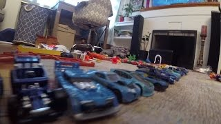 Lots of HOT WHEELS TOY CARS Kids Fun Videos! Big  Racing Action!