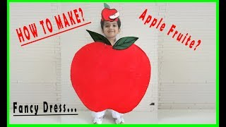 Apple / Fruit / kids/fancy dress/tutorial/DIY/easy/handmade/costume/idea/barbie doll