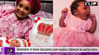 MERRIMENT AT RONKE ODUSANYA'S BABY NAMING CEREMONY IN UNITED STATES
