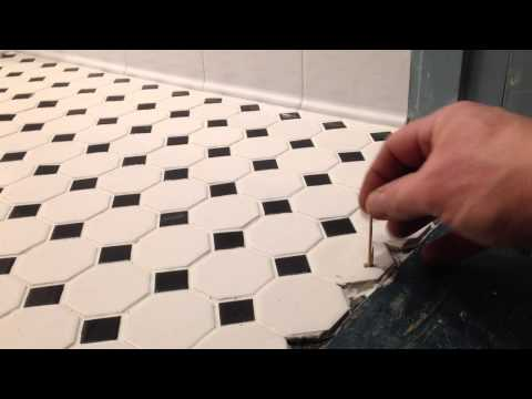 Installing ceramic floor tile on concrete