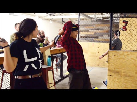 Axe Throwing w/ Louie Lopez to Celebrate his New Shoe