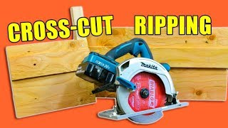 2 Handy Circular Saw Jigs: Cross Cut Jig & Ripping Jig