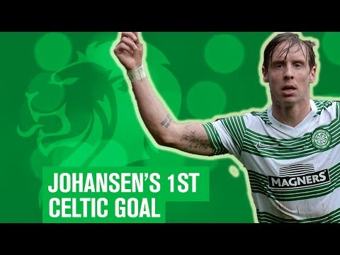 Stefan Johansen scores first ever Celtic goal!