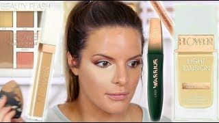 NEW FLOWER BEAUTY MAKEUP TESTED! DRUGSTORE HITS AND MISSES    Casey Holmes