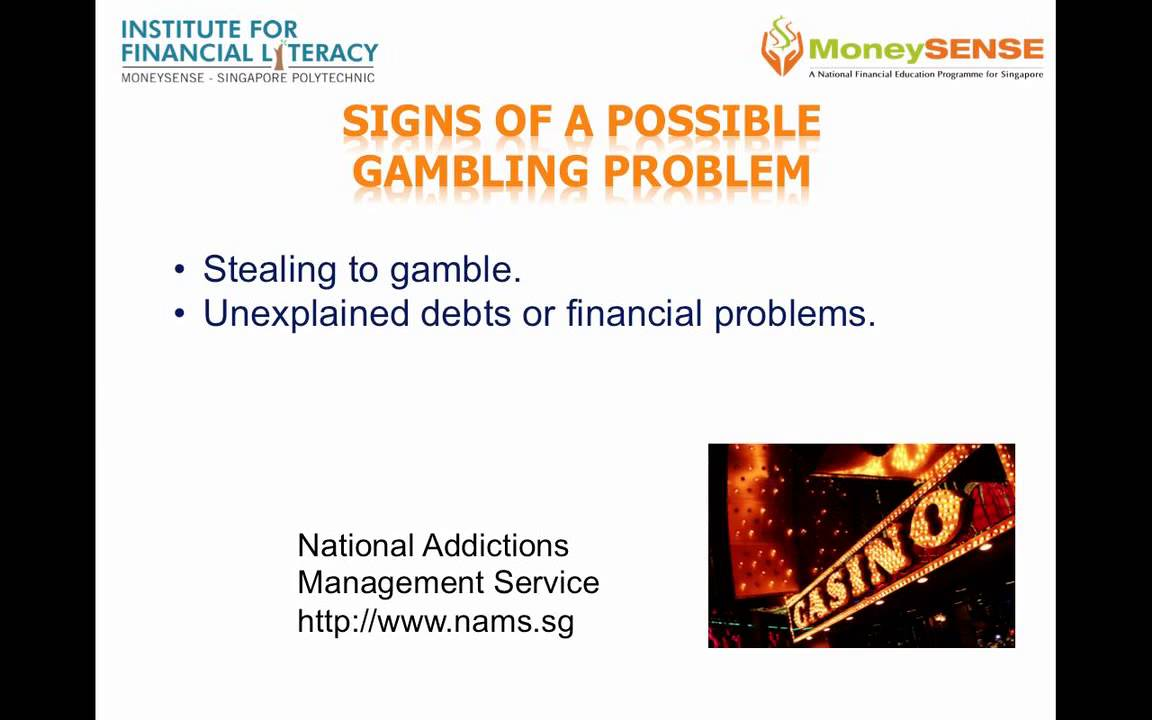 8 signs of gambling addiction