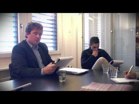 Sébastien Buemi dans un entretien d'embauche