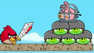 Angry Birds Heroic Rescue - RESCUE STELLA BY KICKING OUT ALL PIGS!!