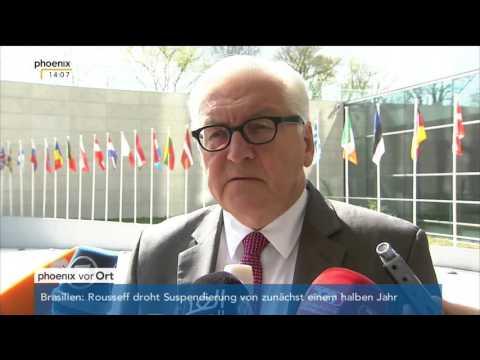 Flüchtlingspolitik: Stefan Leifert und Frank-Walter Steinmeier zum EU-Treffen am 18.04.2016