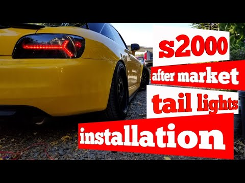 How to install after market tail lights s2000